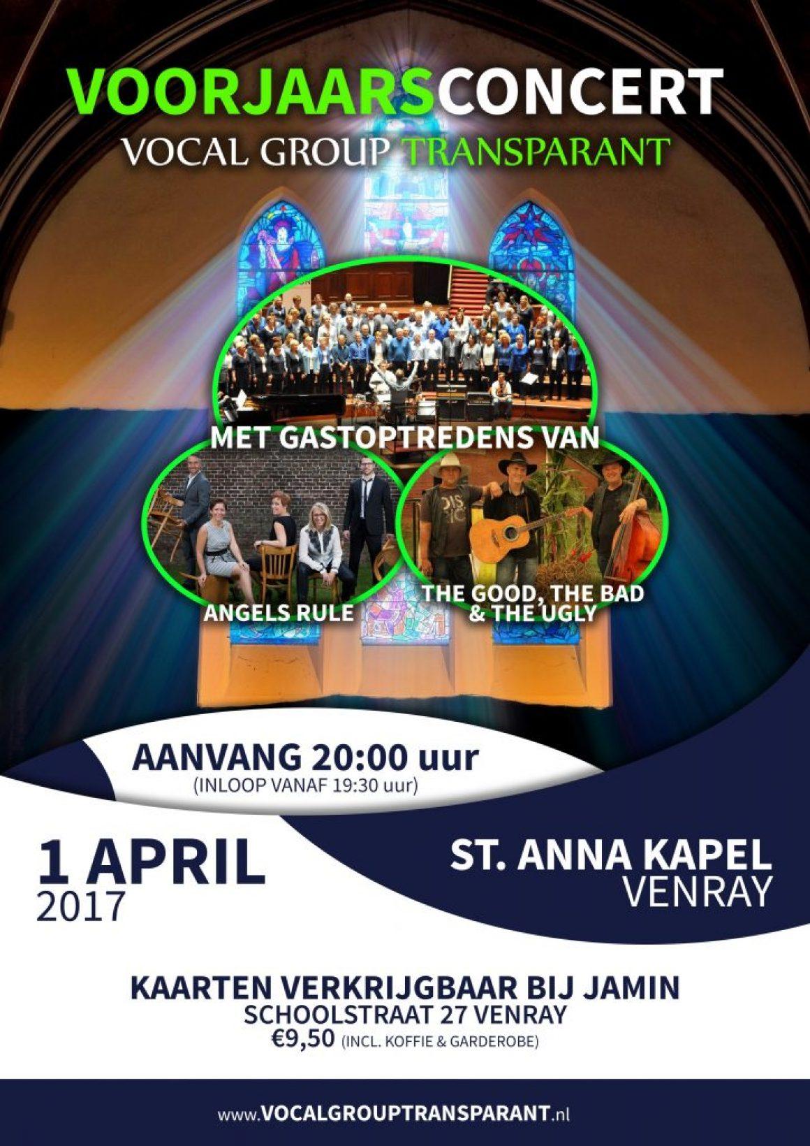 Voorjaarsconcert 1 april 2017 St. Anna Kapel