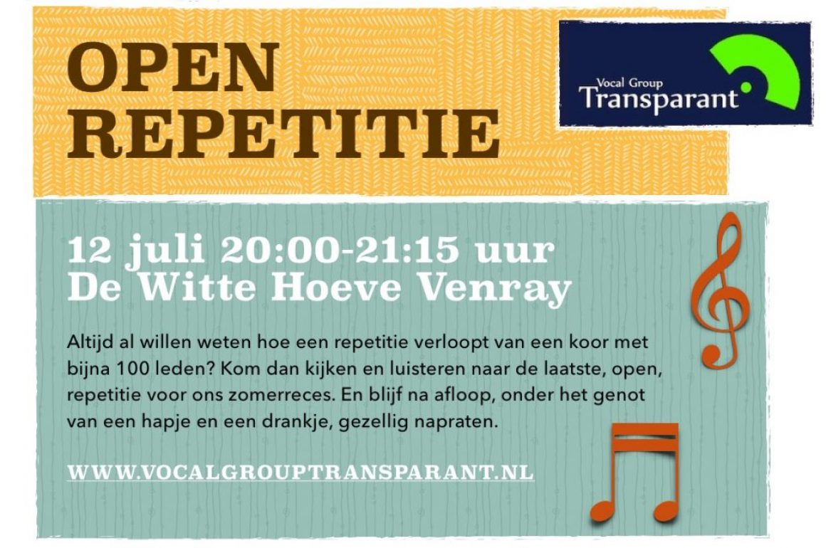 Open repetitie 12 juli 2017